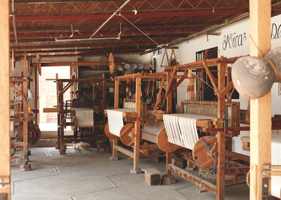 Flying Shuttle Loom Weavers - Mitla