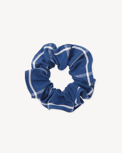 The Everyday Scrunchie - Indigo Grid