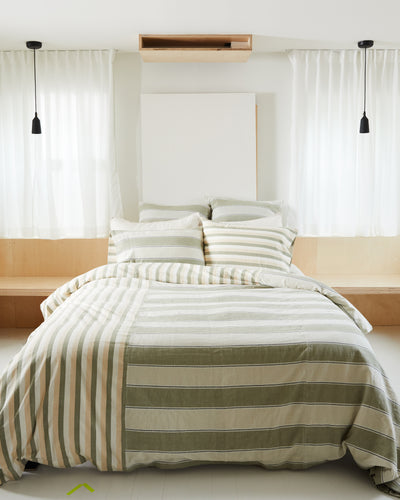 Stripes Duvet Cover - Sage