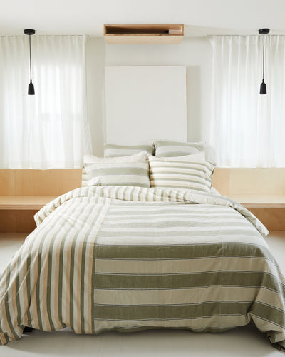 Stripes Bedding Set - Sage