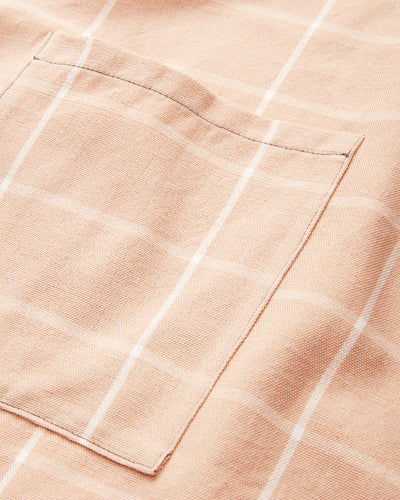Grid Apron - Peach