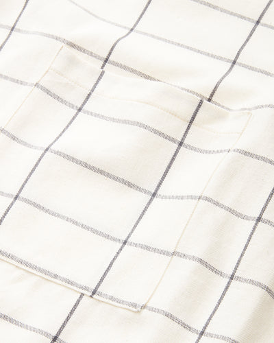Grid Apron - Cream