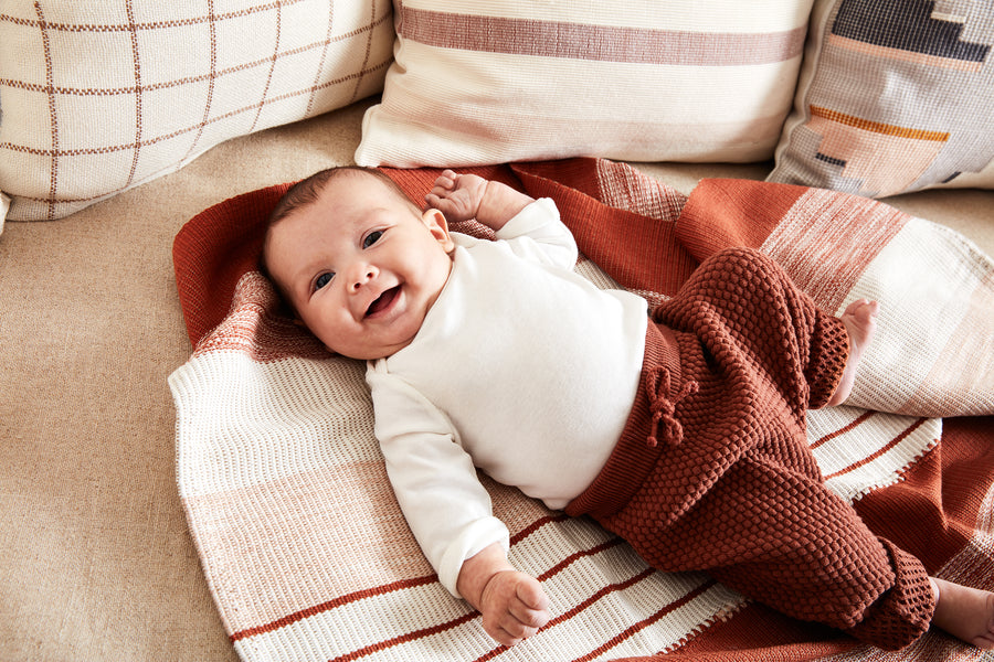 Baby Pantelho Blanket - Rust & Cream