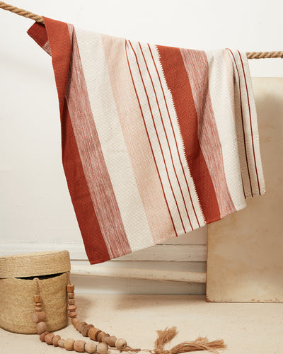 Baby Pantelho Blanket - Rust + Cream