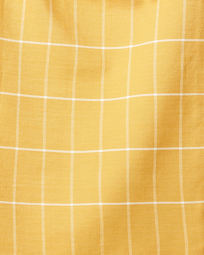 Gold Grid  — Fabric by the Yard