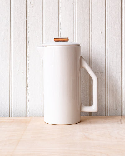 YIELD Ceramic French Press - Glossy Cream