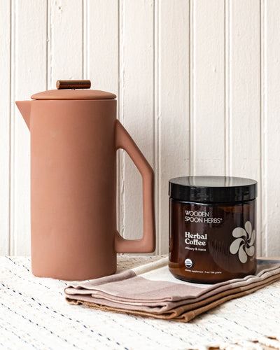 YIELD Ceramic French Press - Matte Sand