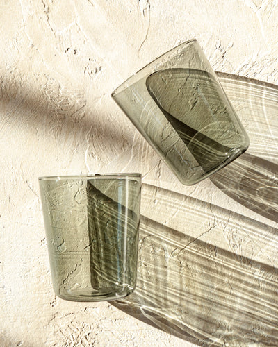 Luisa Acqua Glass (set of 2) - Fog Gray