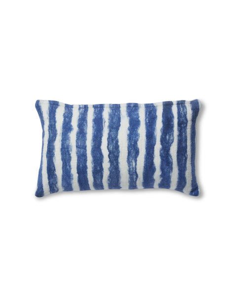 Painted Stripe Pillow Blue