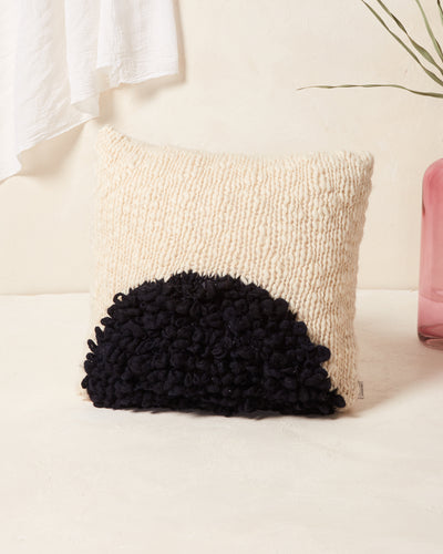 Moon Shag Pillow - Black