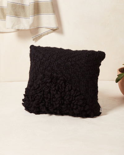 Moon Shag Pillow - Monochrome Black