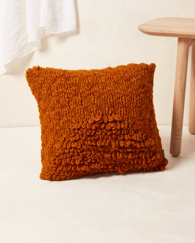 Moon Shag Pillow - Terracotta