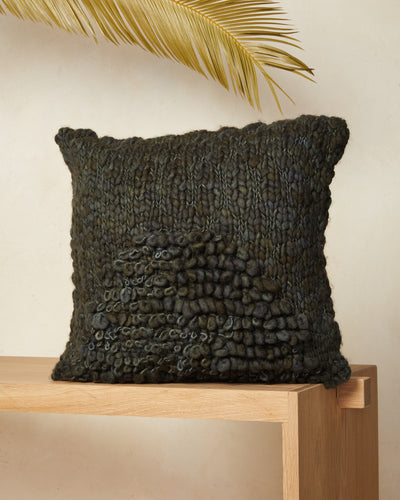 Moon Shag Pillow - Moss