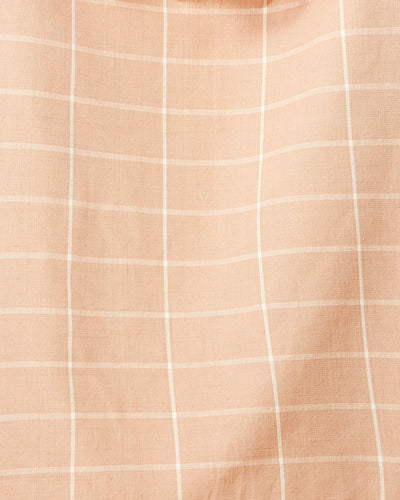 Peach Grid  — Fabric by the Yard
