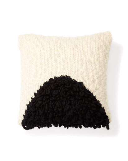 Moon Shag Pillow Black