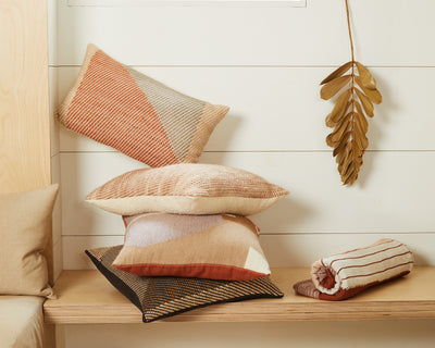 Angle Lumbar Pillow - Terracotta