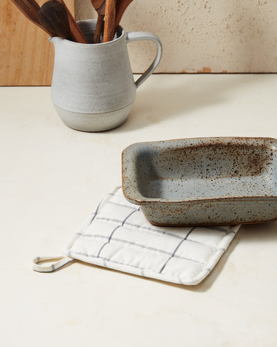 Grid Potholder - Cream