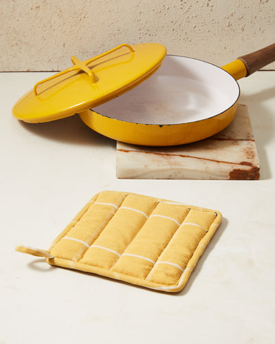 Grid Potholder - Gold