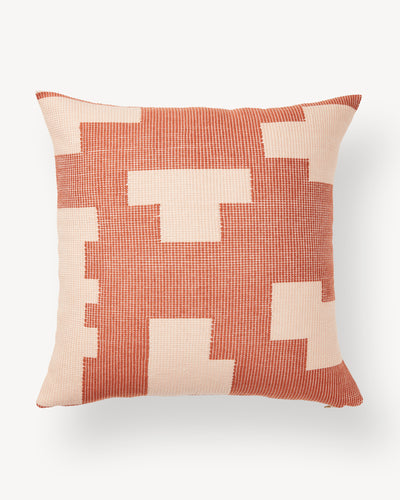 Puzzle Pillow - Terracotta