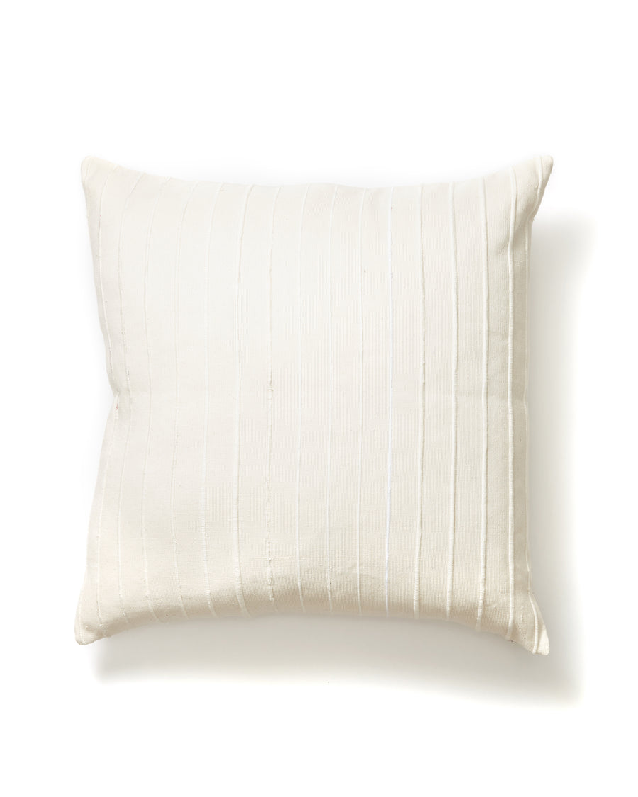 Recycled Stripe Pillow Cream