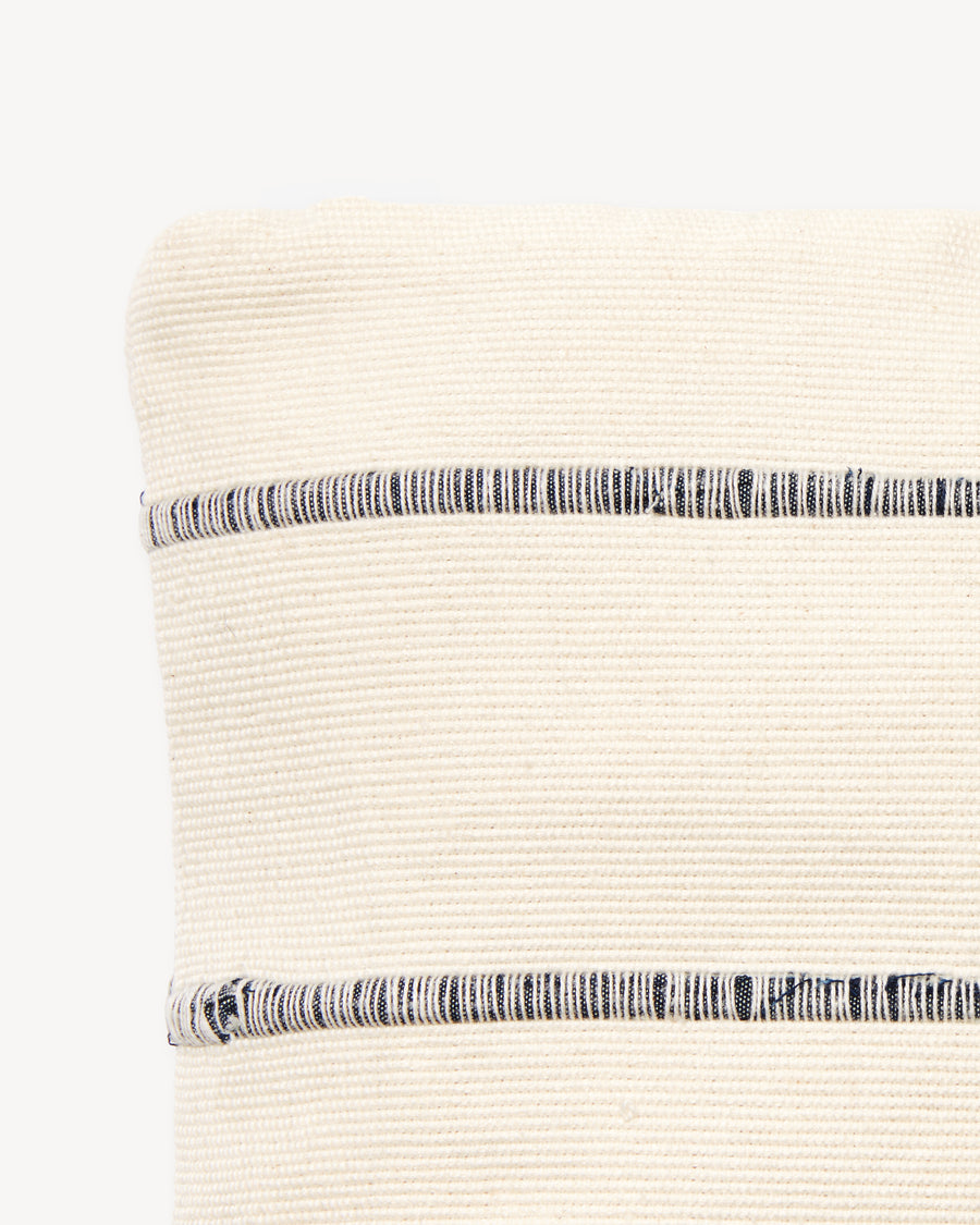 Recycled Stripe Pouch Grey