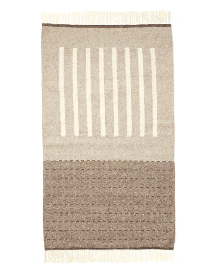 hand woven wool Agnes Rug in grey