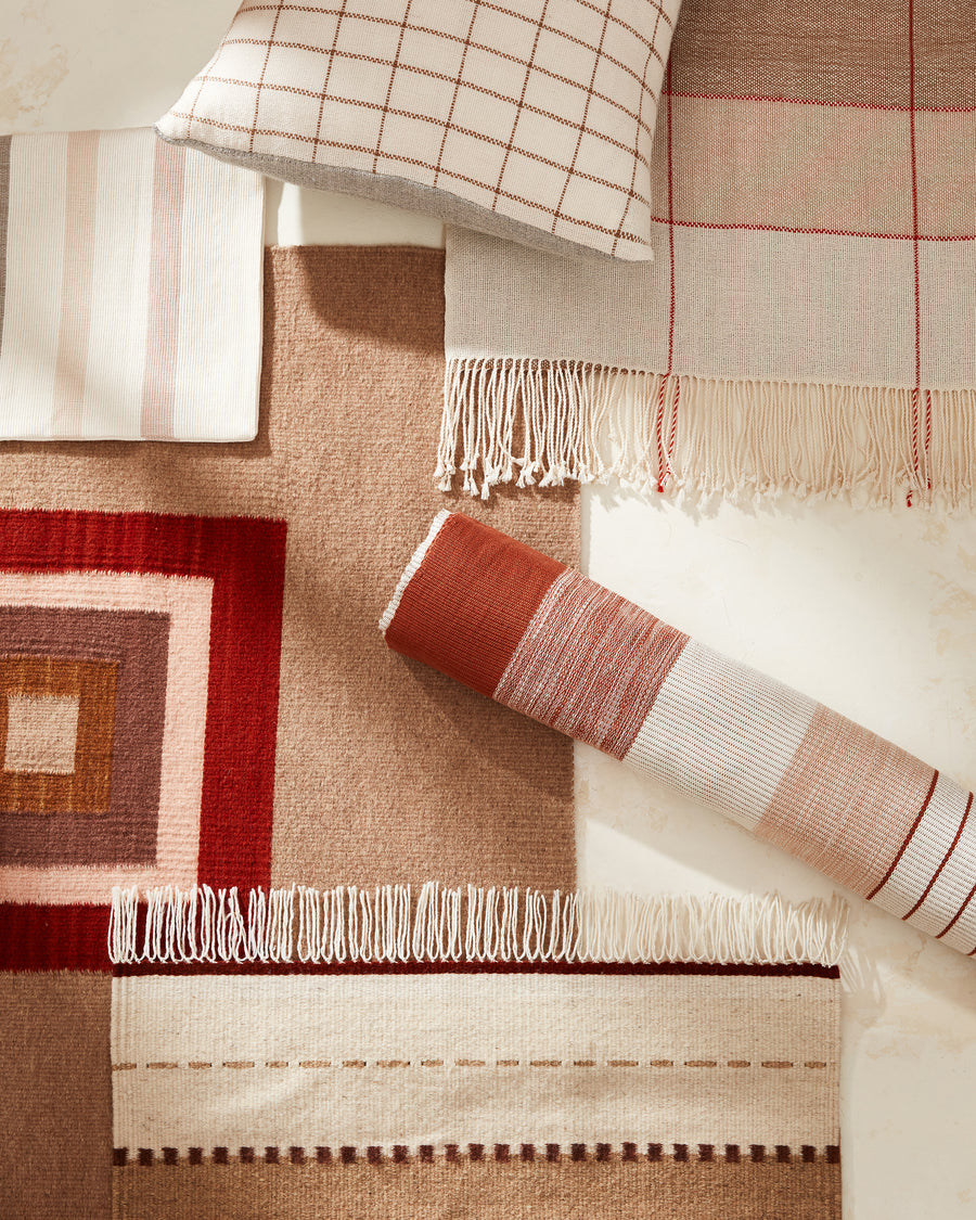 Cubitos Rug Rust
