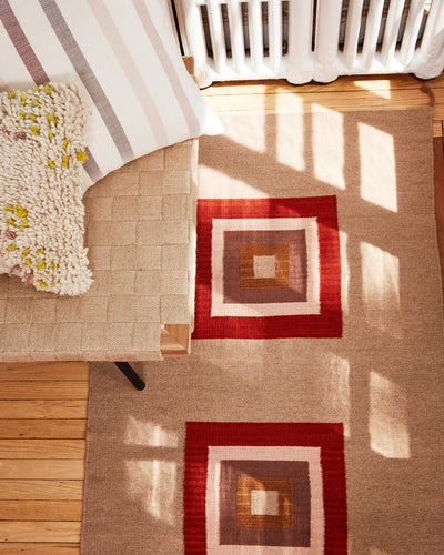 Cubitos Rug - Rust