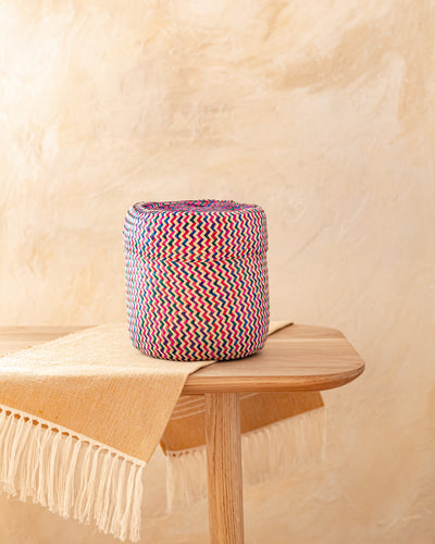 Small Oaxacan Woven Basket Multi
