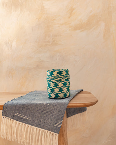 Extra Small Oaxacan Woven Basket Hunter Green