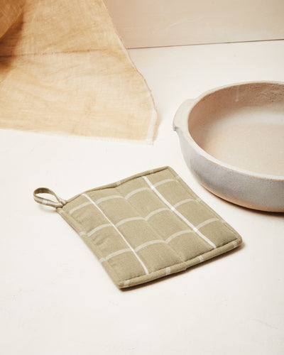 Grid Potholder - Sage