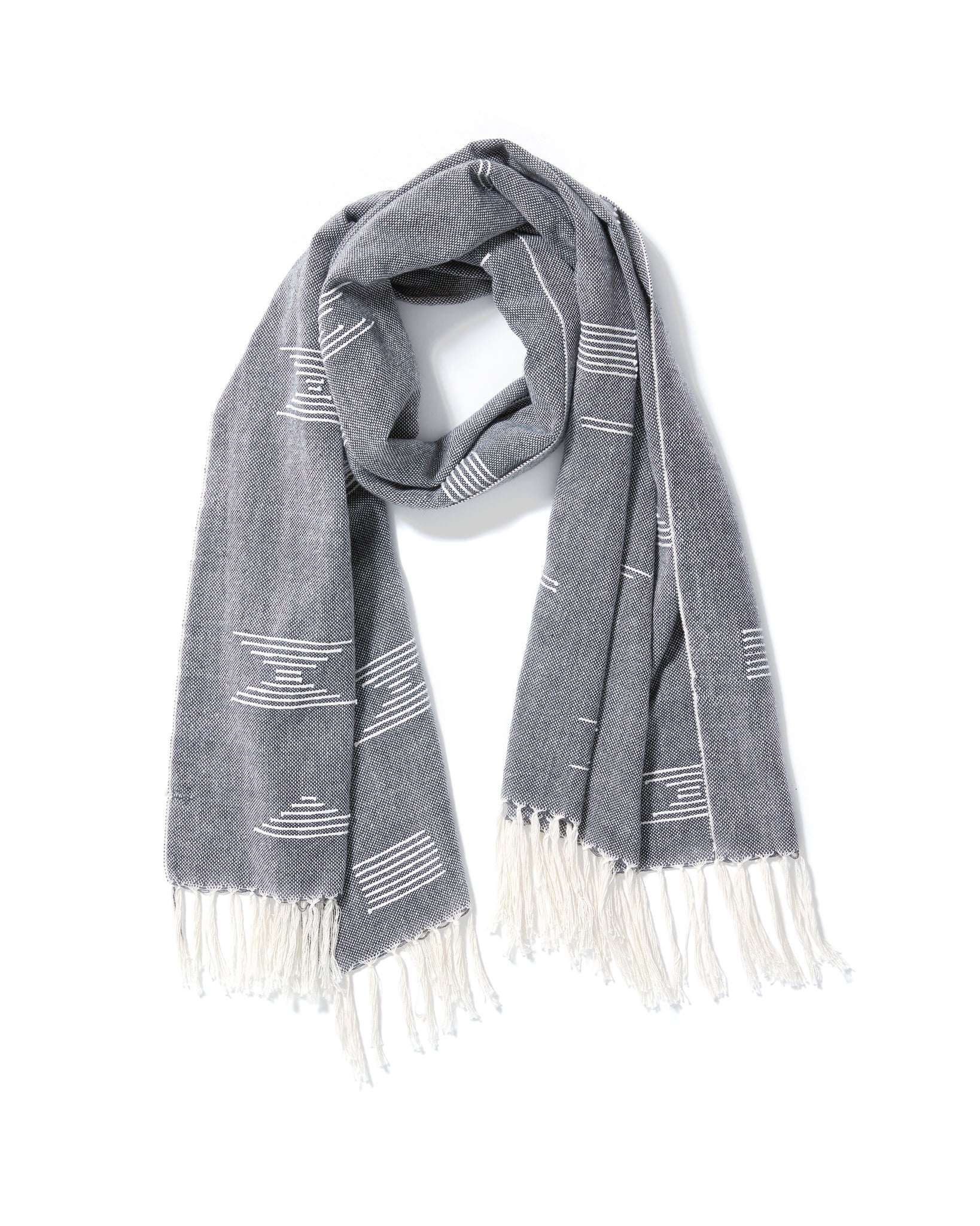 Shapes Scarf Blue