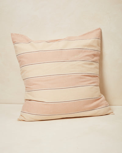 Stripes Euro Sham - Clay
