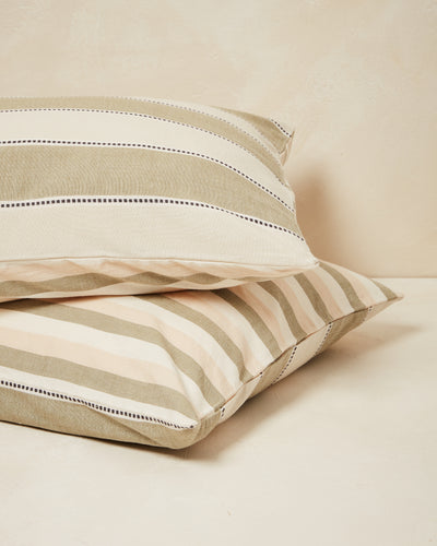 Stripes Pillowcases - Sage