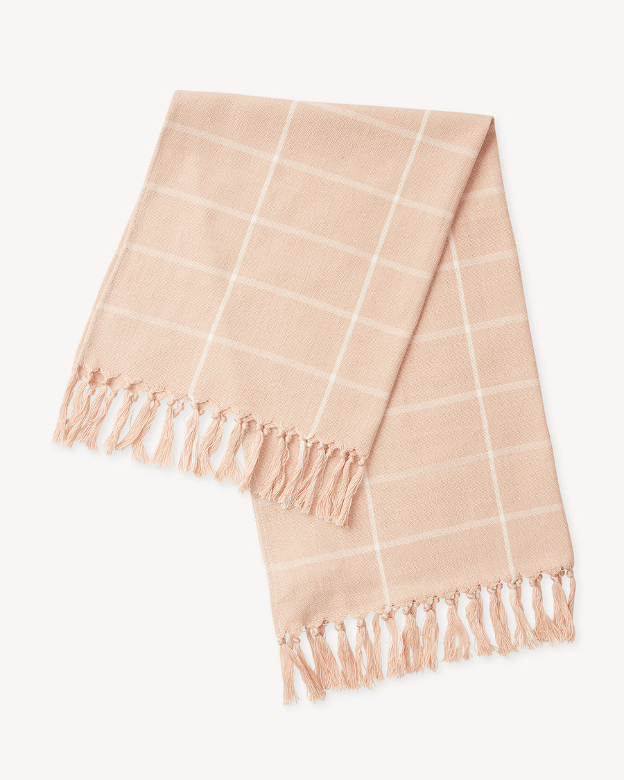 Peach Grid Towel