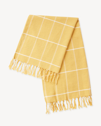 Grid Towel - Gold