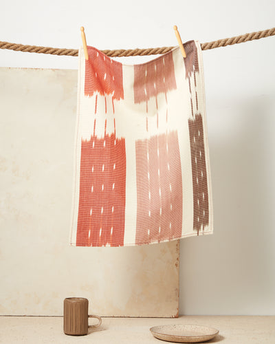 Ikat Towel - Rust