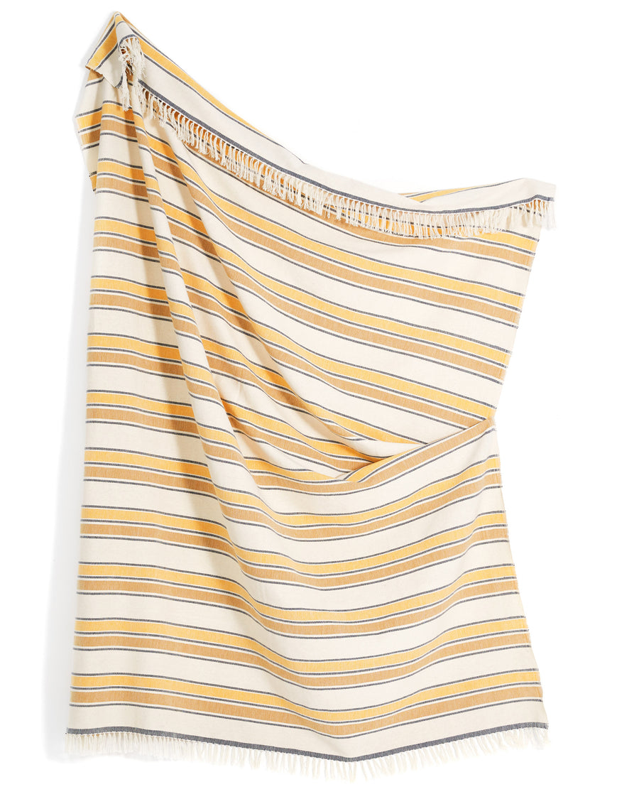 Gold Stripe Throw
