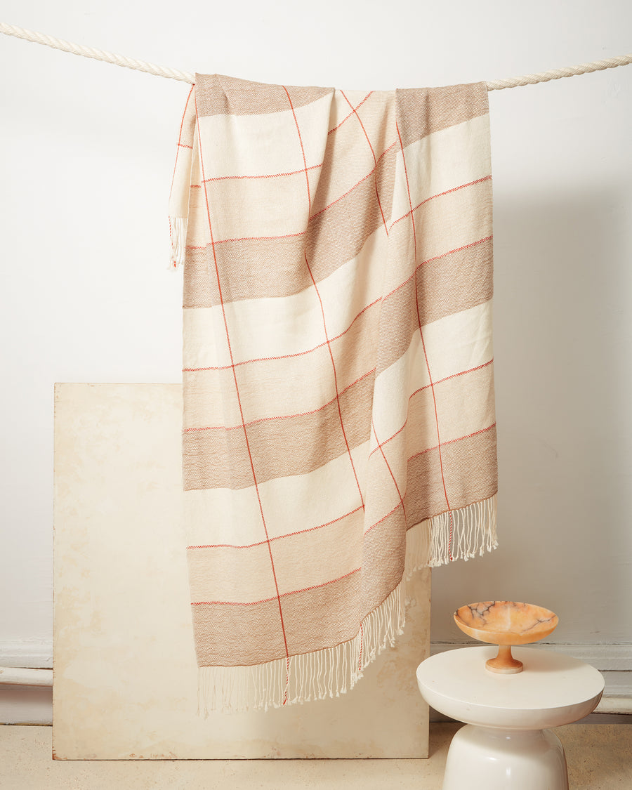 Grid Throw - Camel