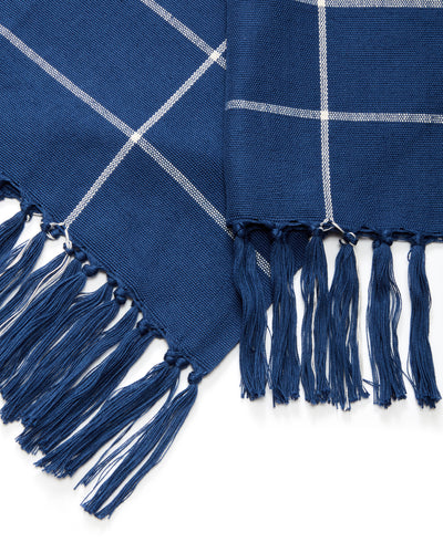 Grid Towel - Indigo