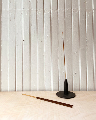 Black Monolith Ceramic Incense Holder