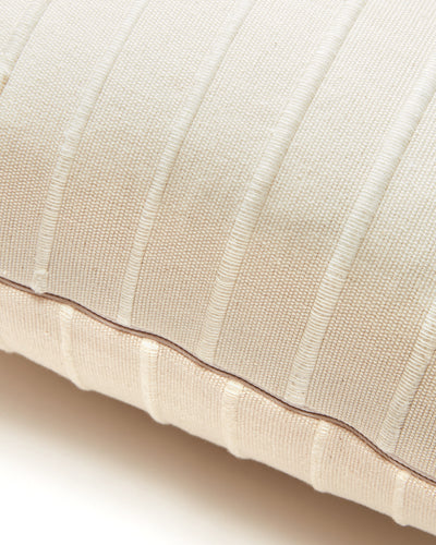 Recycled Stripe Pillow - Cream