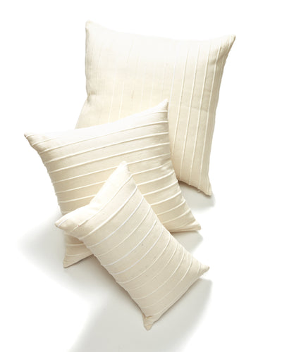 Recycled Stripe Lumbar Pillow - Cream