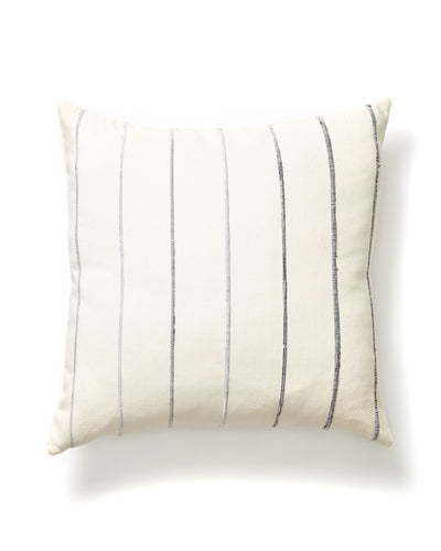 Recycled Stripe Pillow - Grey