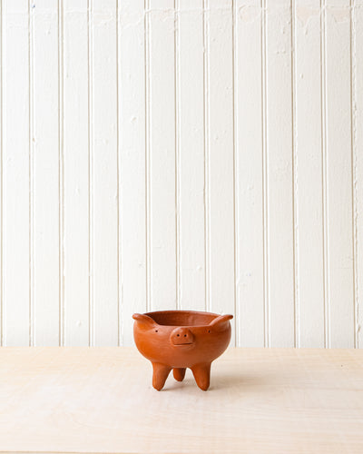 Red Clay Mini Piglet Tripot