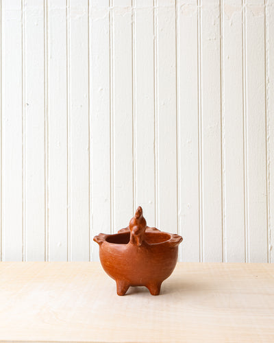 Red Clay Rooster Bowl