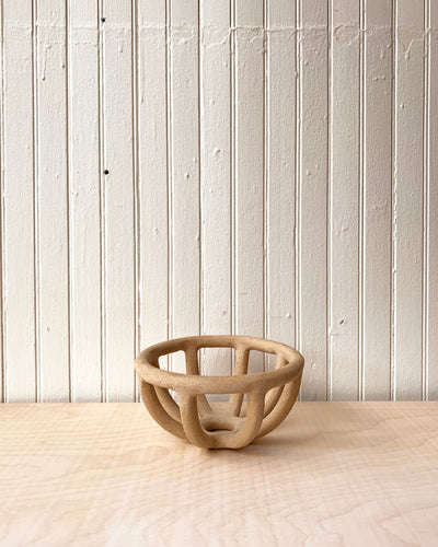 Small Speckled Prong Fruit Bowl