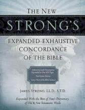 New Strong's Exhaustive Concordance (Hard Cover) Expanded Edition – Nelson Edition