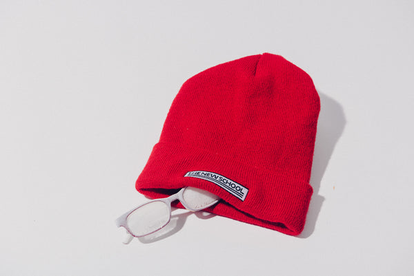 The New School Embroidered Beanie