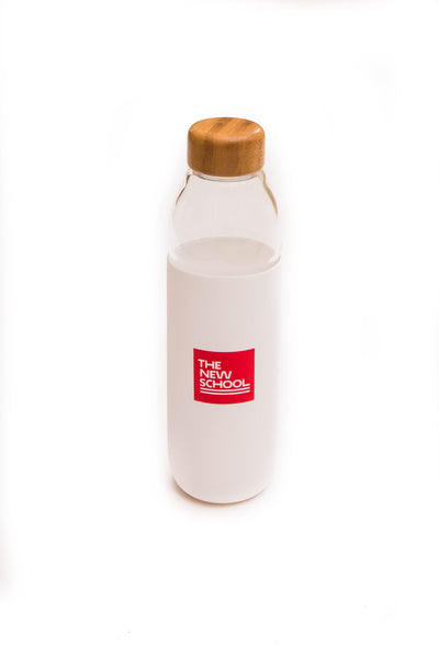 The New School Glass Water Bottle
